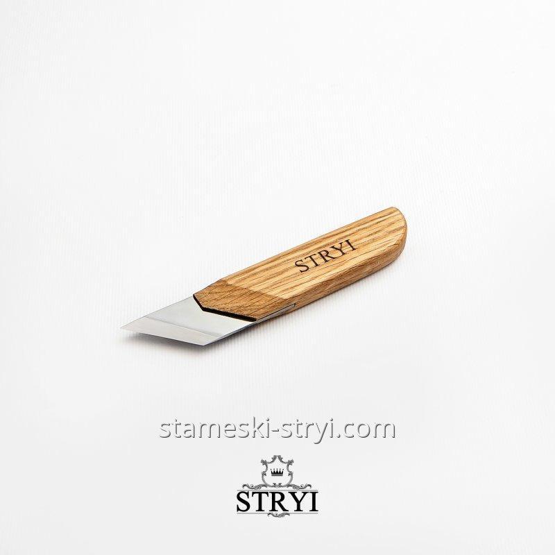 Стамеска нож-косяк 45 градусов для резьбы по дереву STRYI, 40 мм, арт.84540