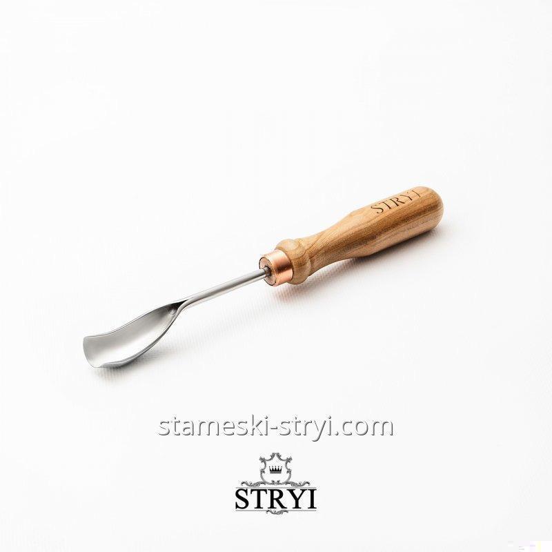 Стамеска клюкарза для резьбы по дереву STRYI, полукруглая 20 мм, арт.19920