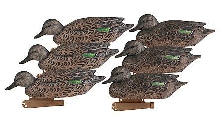 Чучела уток чирков самки GHG Pro-Grade Series Decoys, Early Season Green-Winged Teal Hens, 6- Pack