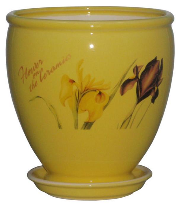 Купить Вазон Бутон желтый iris