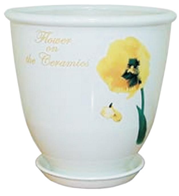 Купить Вазон Бутон белый тюльпан