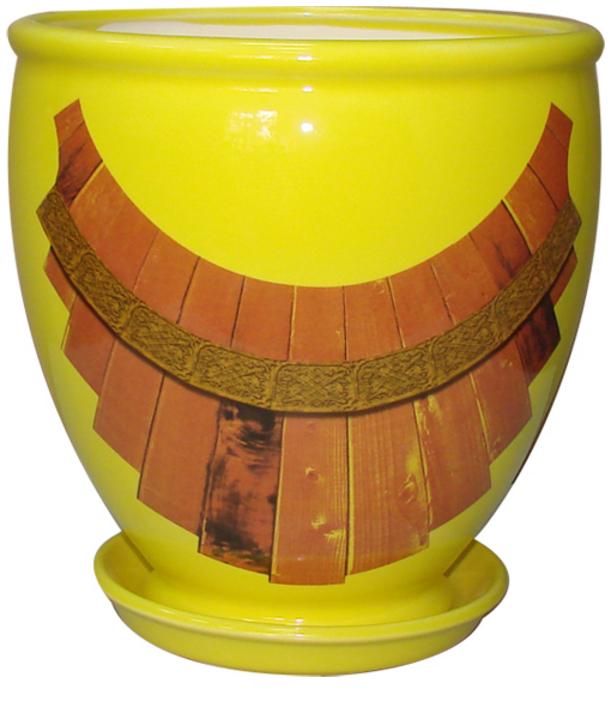 Купить Вазон Бутон желтый бочка
