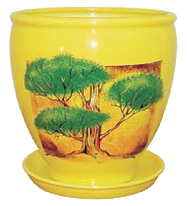 Купить Вазон Бутон желтый пейзаж