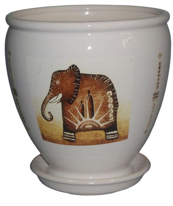Купить Вазон Бутон белый слон