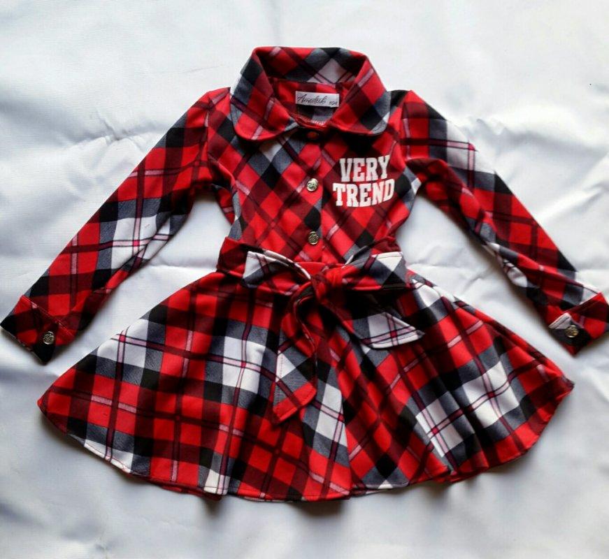 """Купить Детское платье """"Любимый номер""""красное , на рост 122-152 3603"""