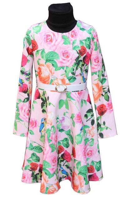 """Купить Подростковое нарядное платье с длинным рукавом """"Ирэн"""" 128-146 3015"""