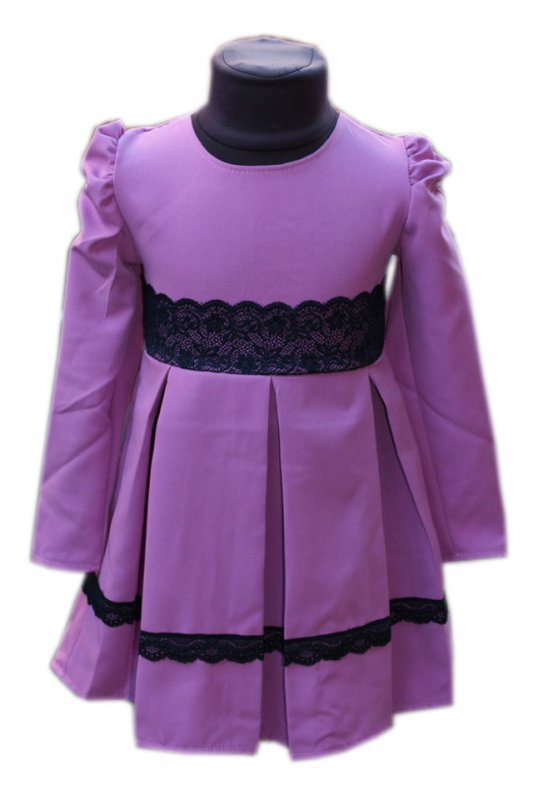 Купить Детское нарядное платье с кружевом сирень р. 104-122 3611
