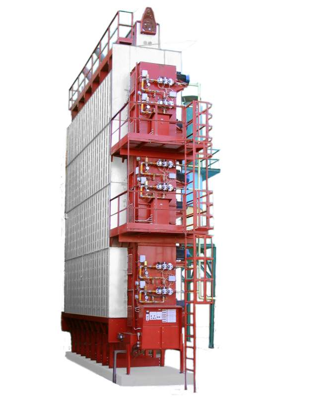 Grain drying installation / dryer type Ukraine, model: 5, 12, 18, 28, 34, 50, 5 performance - 50tn/chas, culture: wheat, corn, sunflower, barley, sorghum, soybean, rapeseed, rice, operated directly on the monitor given cereal