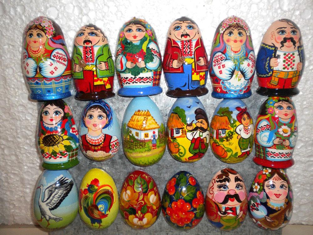 Магниты на холодильник. Фигурки деревянные с ручной росписью.