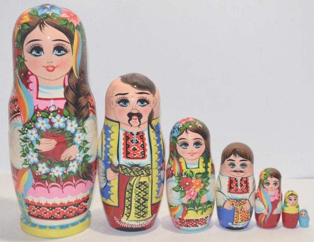 Украинская расписная матрёшка из 7-ми штук маленькая 701