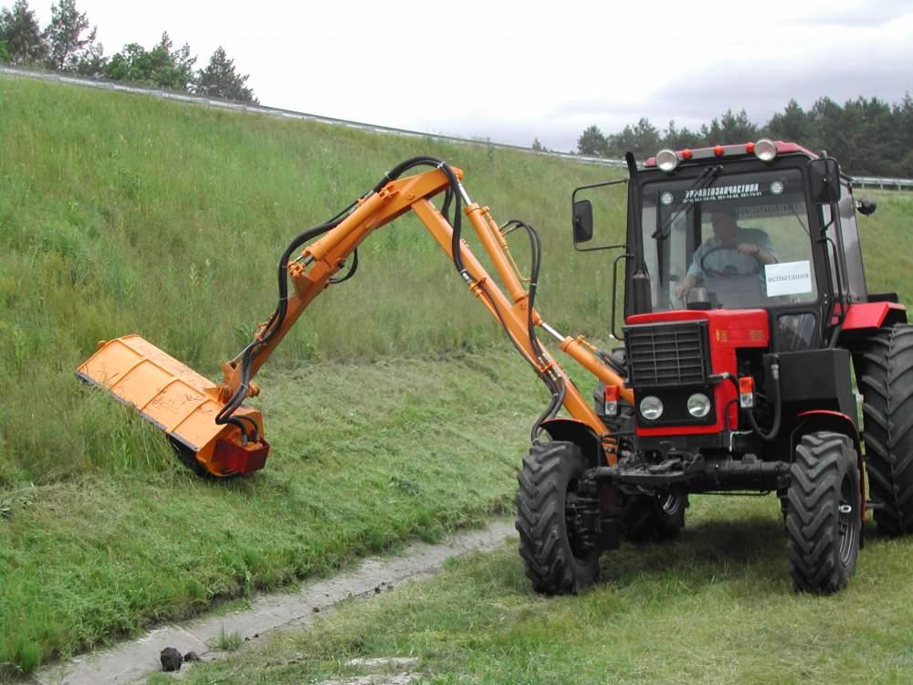 The mower to the manipulator