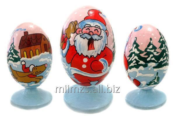 Яйцо деревянное Santa and Snowman - 2