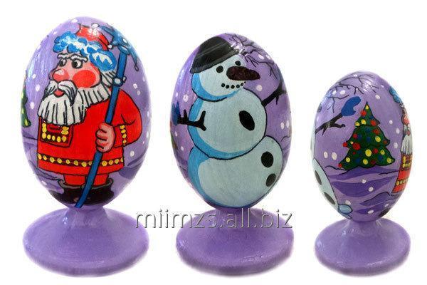 Яйцо деревянное Santa and Snowman - 3