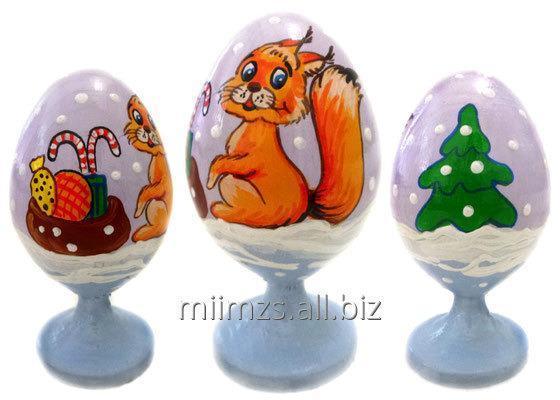 Яйцо деревянное Santa and Snowman - 7