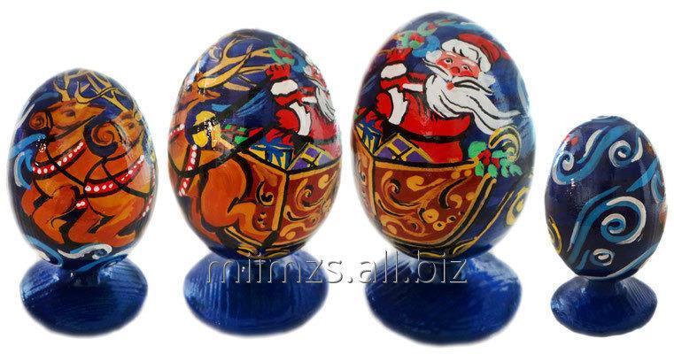 Яйцо деревянное Santa and Snowman - 17