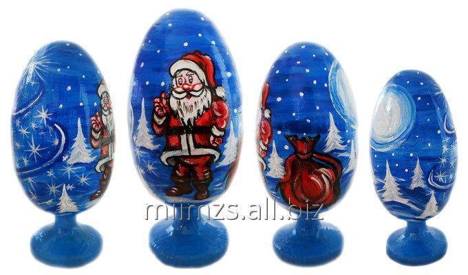 Яйцо деревянное Santa and Snowman - 18