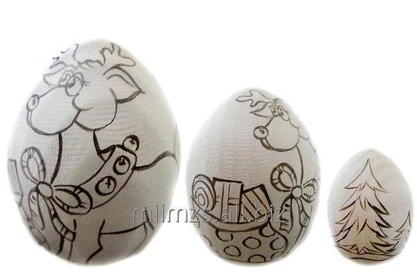 Купить Яйцо деревянное DIY Р - 106