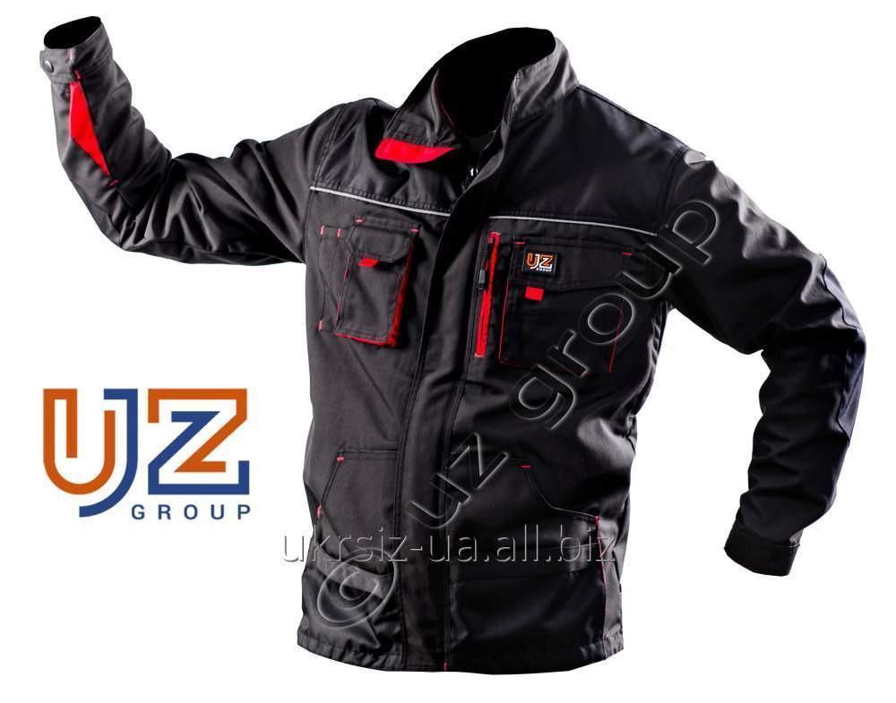 Куртка Steeluz тёмно-серый с красной  отделкой
