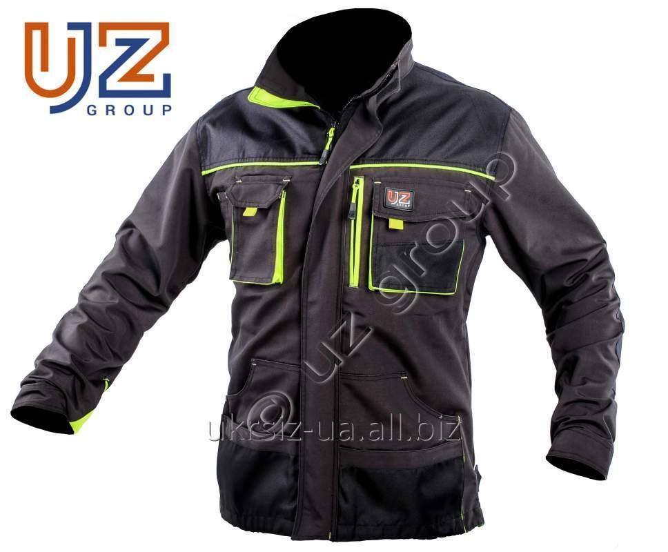 Куртка Steeluz тёмно-серый с салатовой отделкой