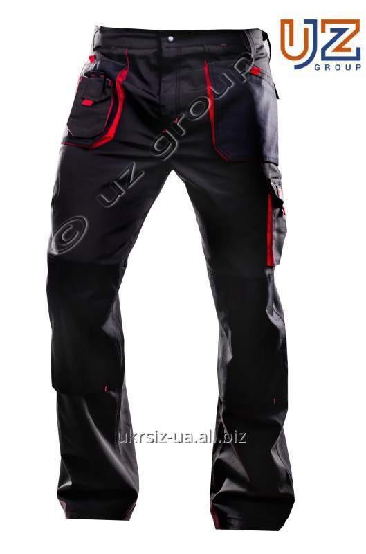 Брюки Steeluz тёмно-серый с красной отделкой
