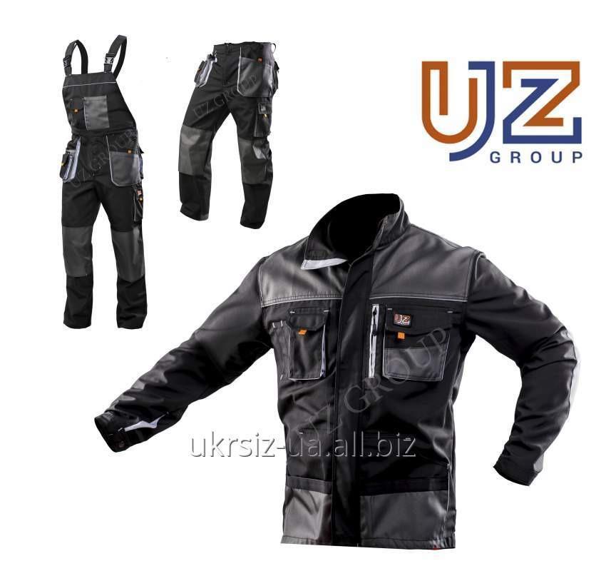 Костюм Брюки+Куртка Steeluz тёмно-серый с серой отделкой