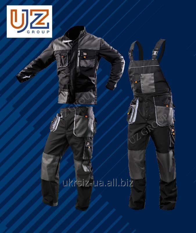 Костюм Полукомбинезон+Куртка тёмно-серый с серой отделкой