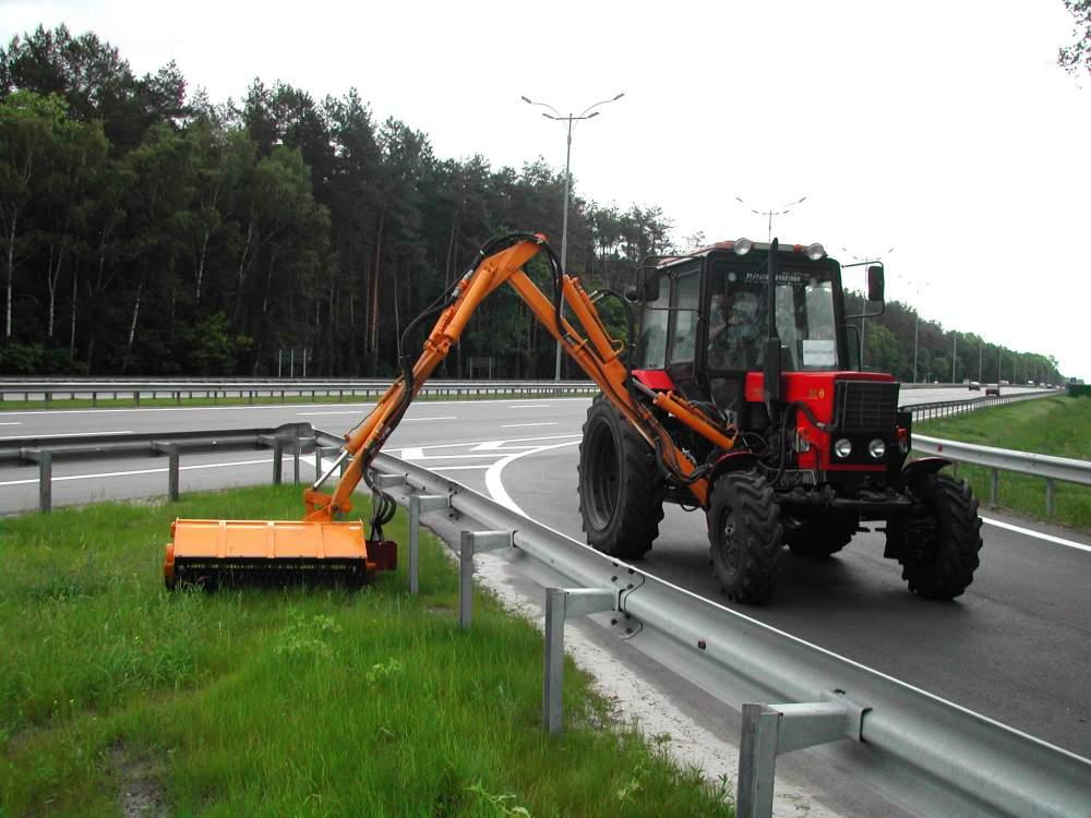 Комплект навесного оборудования для содержания дорожной обстановки. Навесные манипуляторные косилки