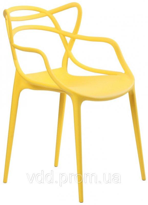 Купить Стул пластиковый желтый АФ-512012