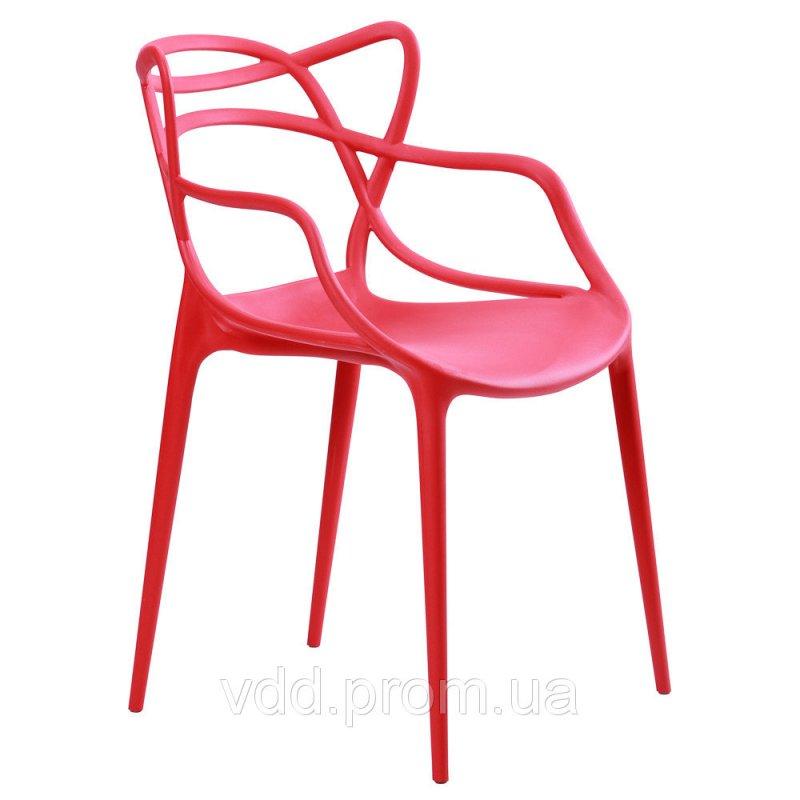 Купить Стул пластиковый красный АФ-512007