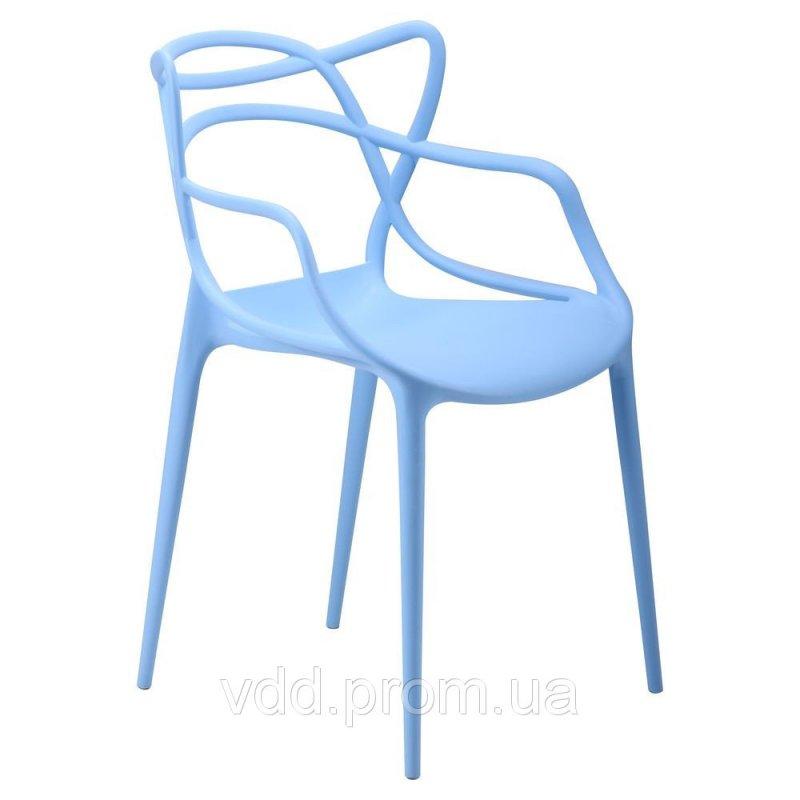 Купить Стул пластиковый голубой АФ-512011