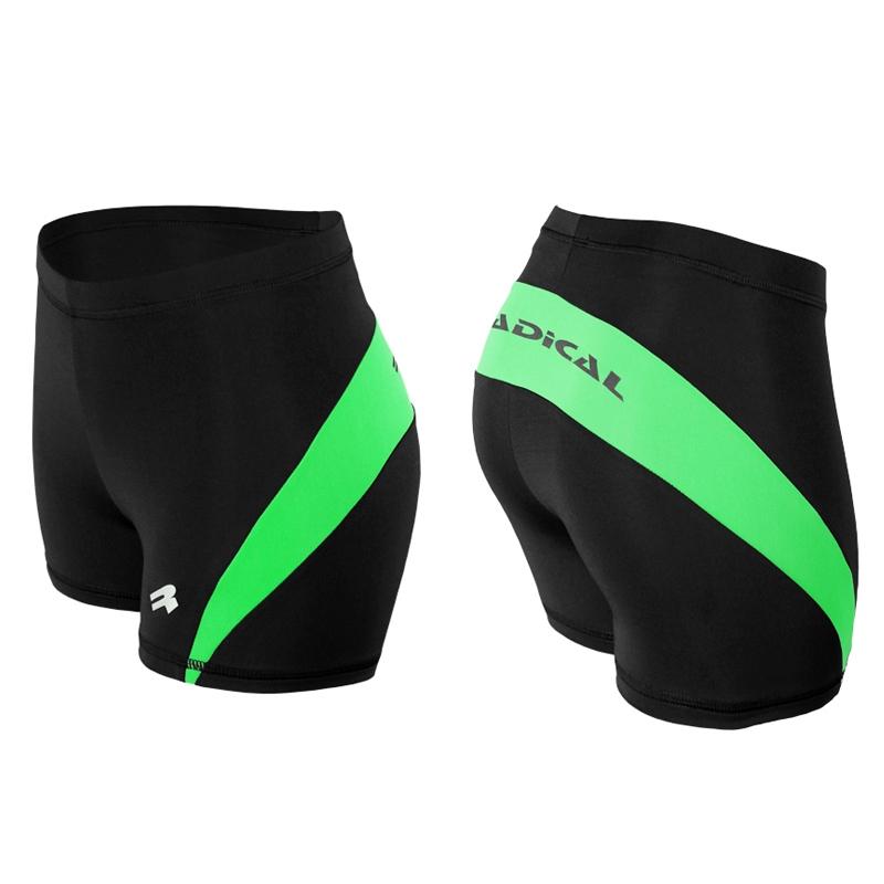 Спортивные шорты женские Radical Flexy черно-зеленые