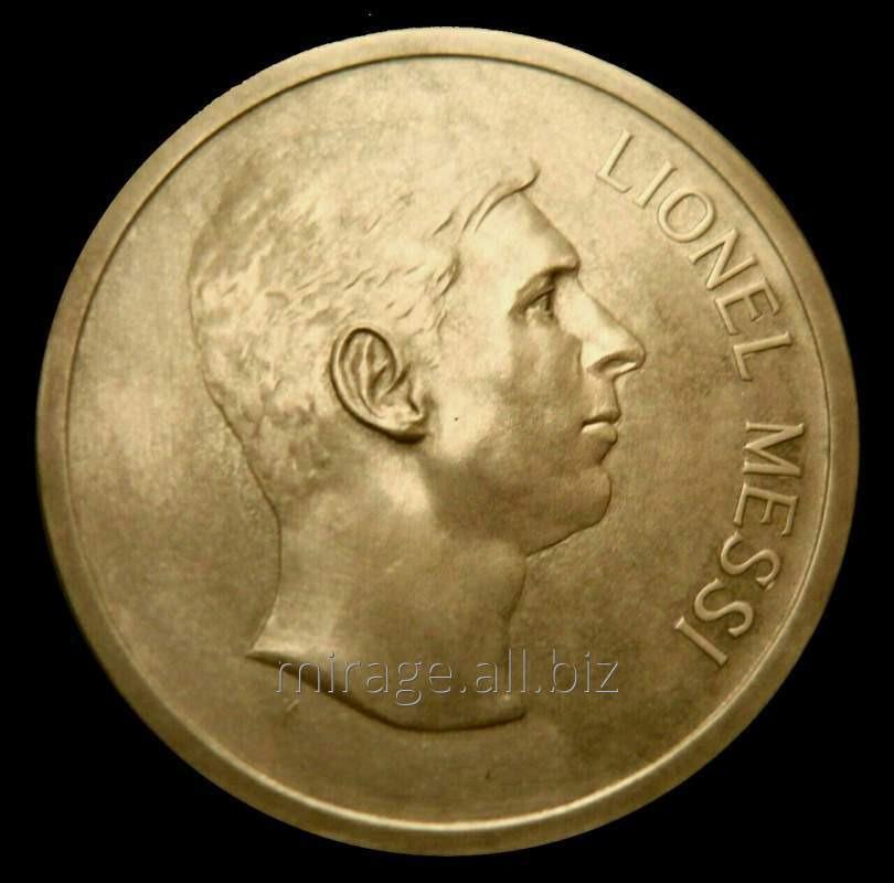 Сувенирная медаль Лионелю Месси