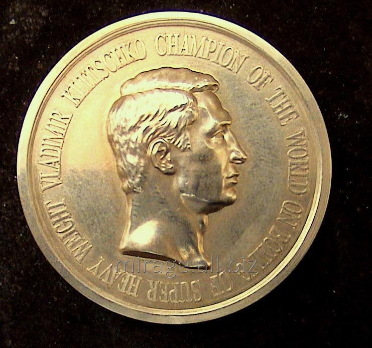 Сувенирная медаль чемпиону мира по боксу В.Кличко
