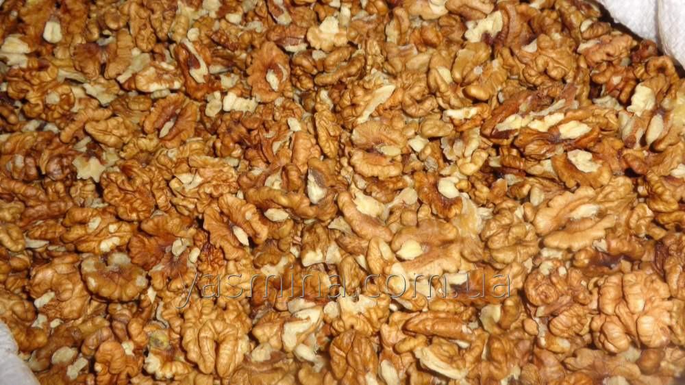 Walnuts kernels. Amber light mix.