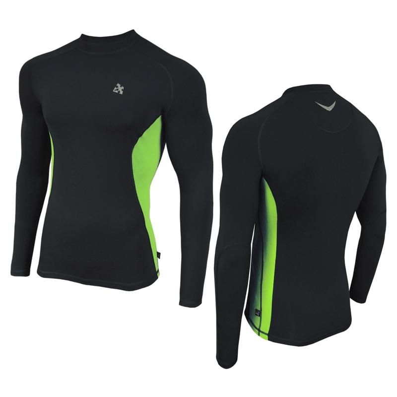 Кофта мужская спортивная с длинным рукавом Radical Fury Duo LS черно-зеленая