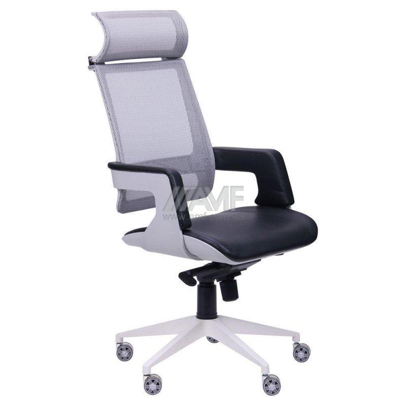 Кресло Axon каркас белый, сетка черная