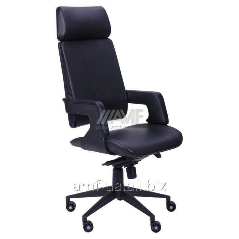 Кресло Axon каркас черный, к/з черный