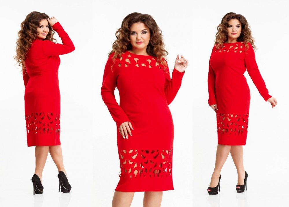 Купить Стильное платье для пышных дам