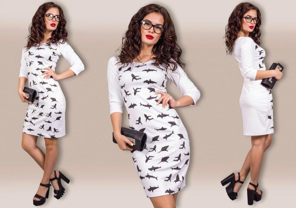 """Купить Стильное молодежное платье мини """" Акулы """" Dress Code"""