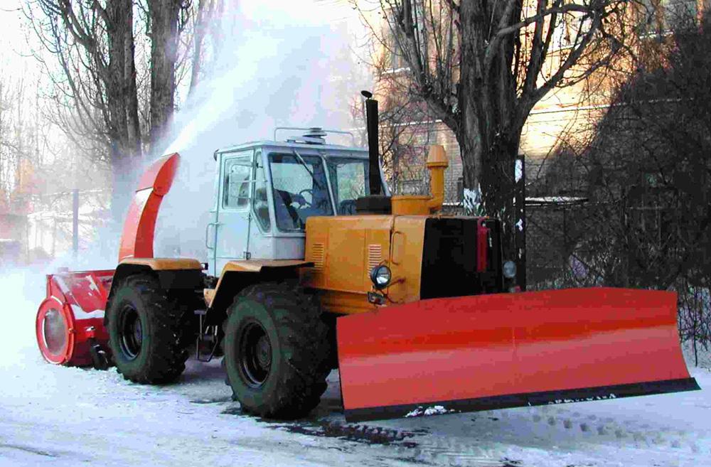 Снегоочиститель фрезернороторный. Средства механизации для зимнего содержания дорог