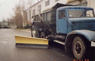 Side dump to the KRAZ car