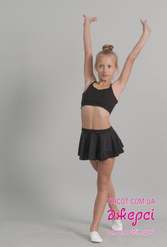 Юбка танцевальная с оборкой Ю962