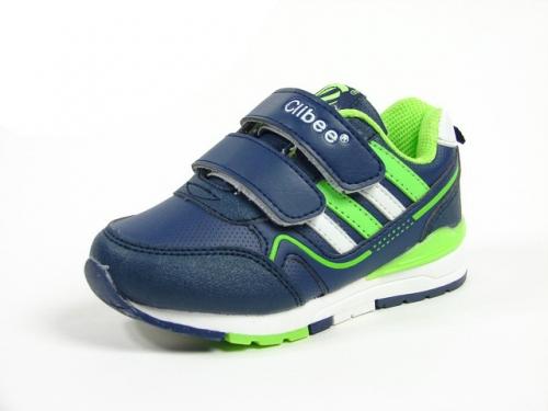 Купить Детские кроссовки Clibee:F-579 Синий+Салат