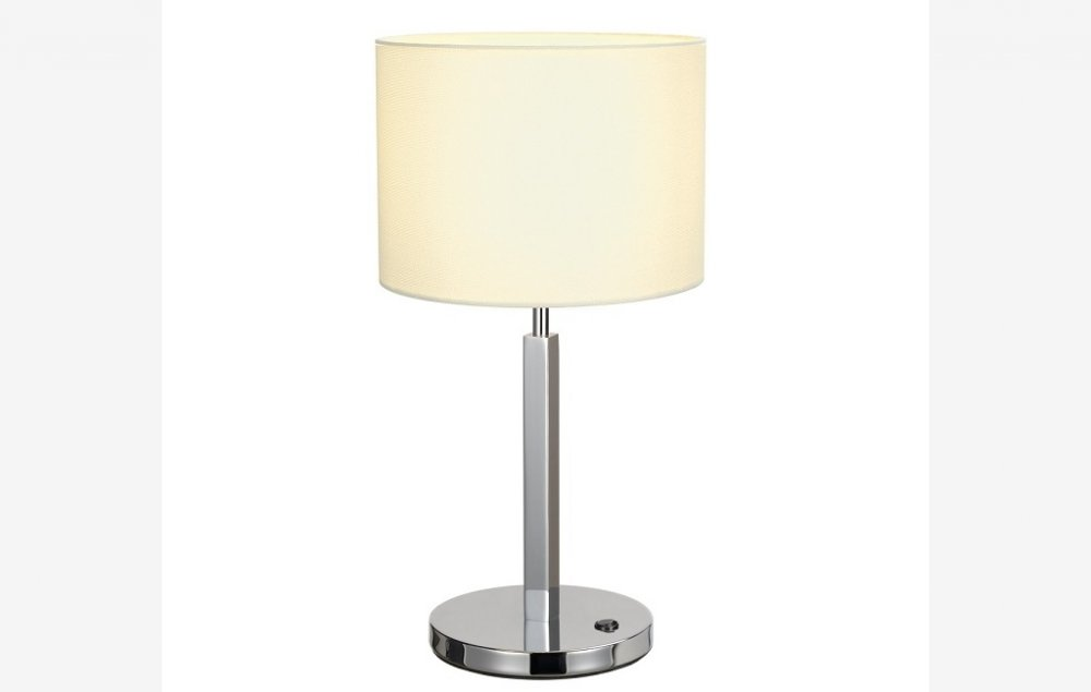 Nastolnaya Lampa Slv Tenora Table Lamp A60 Round White Shade Max