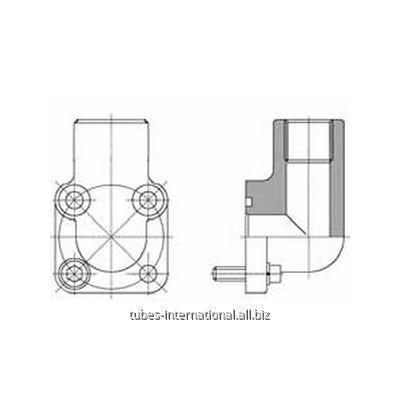 Фланцевое соед. 4-отверстия 90° / внутр. BSP 60°