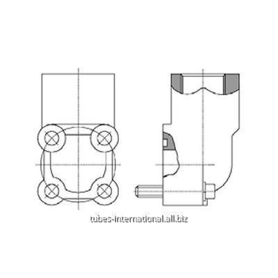 Фланцевое соед. 4-отверстия 90° / внутр. BSP (алюминий)