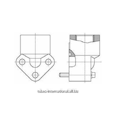 Фланцевое соед. 3-отверстия 90° / внутр. BSP алюминий