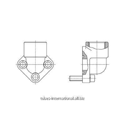 Фланцевое соединение 3-отверстия 90° / внутр. BSP