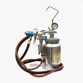 Бак нагнетательный 2,2 л + краскопульт 2,5 мм + шланг 2 м пневматический Air Pro 77-2QT