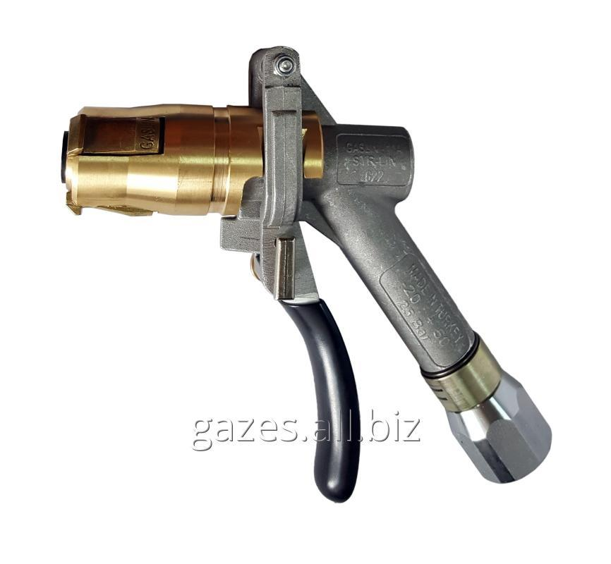The fuel-dispensing Gaslin gun 3rd lapochny gas LPG for AGZS autogas butane propane a clamp the filling distributing crane